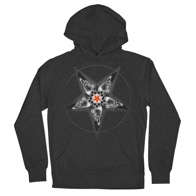 Corvus Pentacle Women's French Terry Pullover Hoody by The Dark Art of Chad Savage
