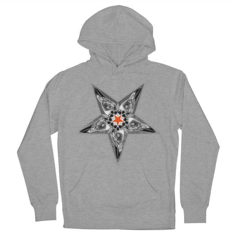 Corvus Pentacle Men's French Terry Pullover Hoody by The Dark Art of Chad Savage