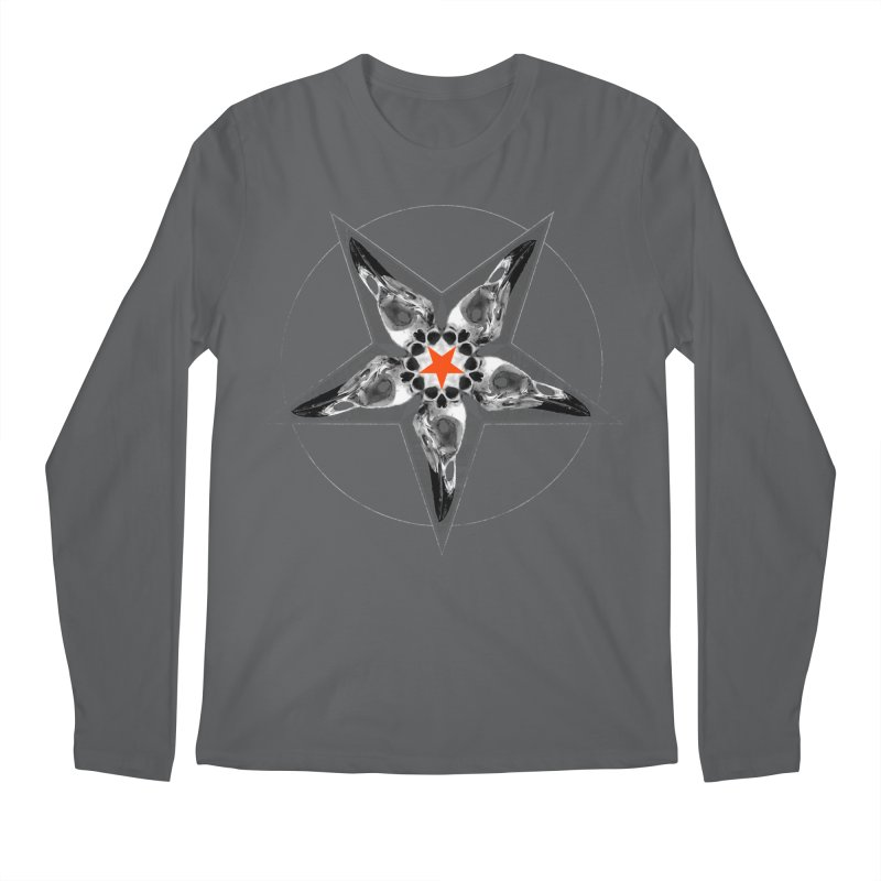 Corvus Pentacle Men's Regular Longsleeve T-Shirt by The Dark Art of Chad Savage