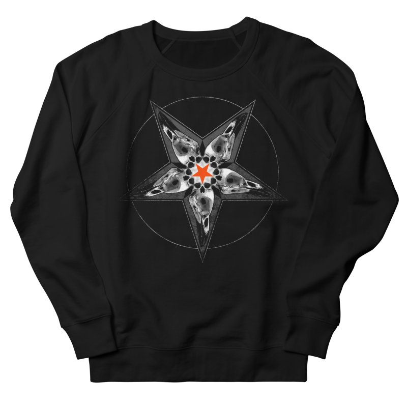 Corvus Pentacle Men's French Terry Sweatshirt by The Dark Art of Chad Savage