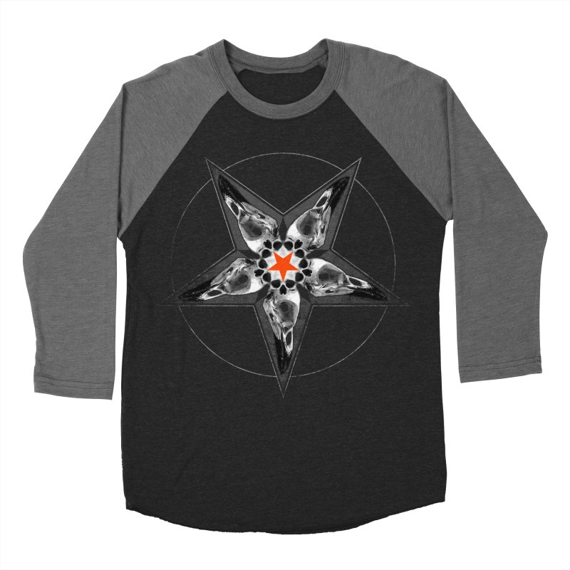 Corvus Pentacle Men's Baseball Triblend T-Shirt by The Dark Art of Chad Savage