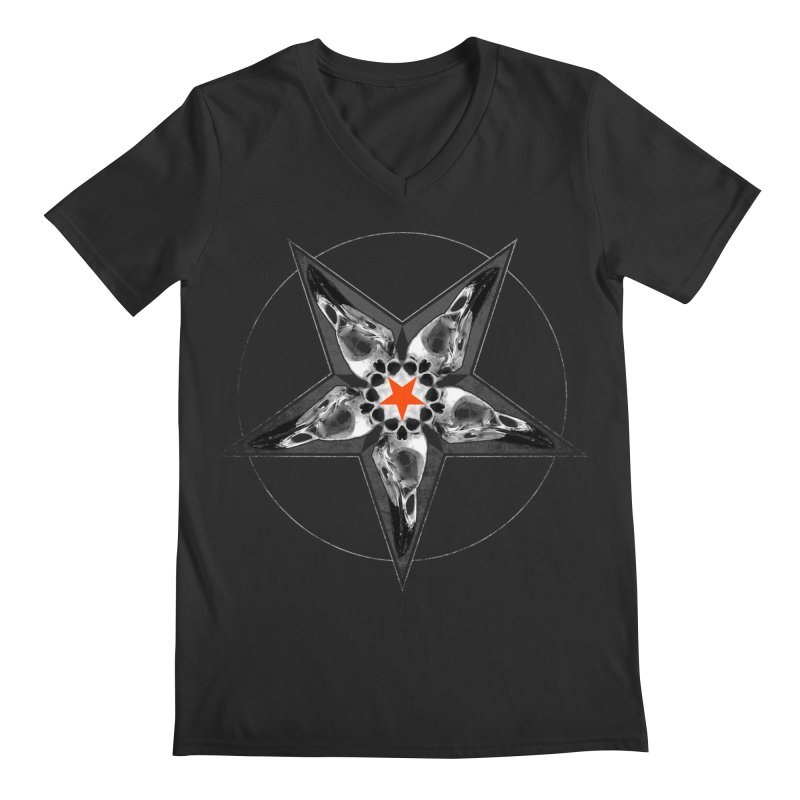 Corvus Pentacle Men's Regular V-Neck by The Dark Art of Chad Savage