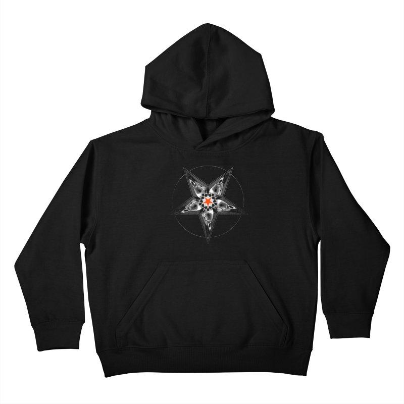 Corvus Pentacle Kids Pullover Hoody by The Dark Art of Chad Savage