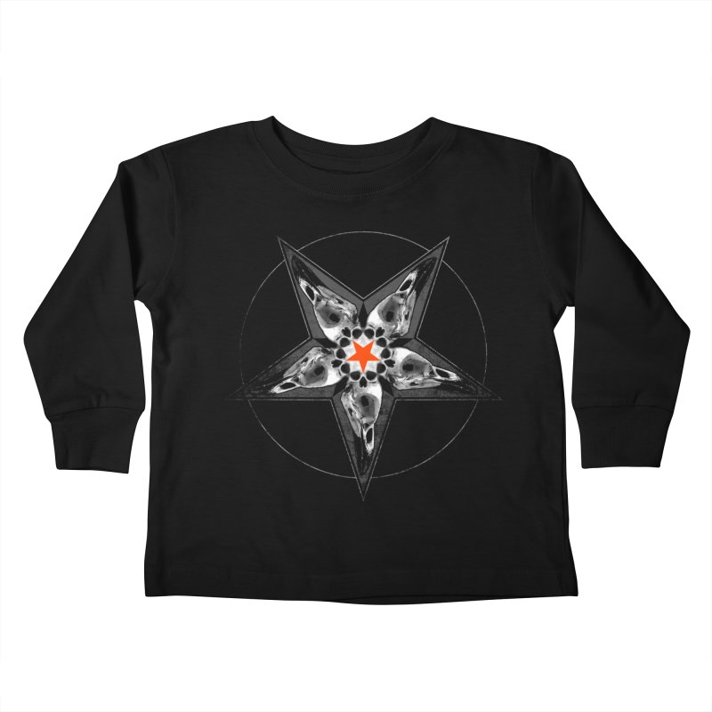 Corvus Pentacle Kids Toddler Longsleeve T-Shirt by The Dark Art of Chad Savage