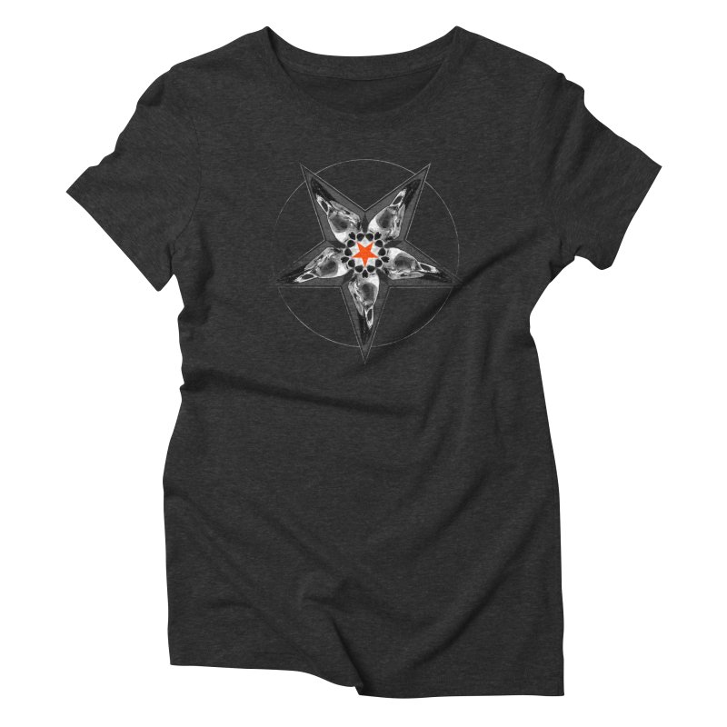 Corvus Pentacle Women's Triblend T-Shirt by The Dark Art of Chad Savage