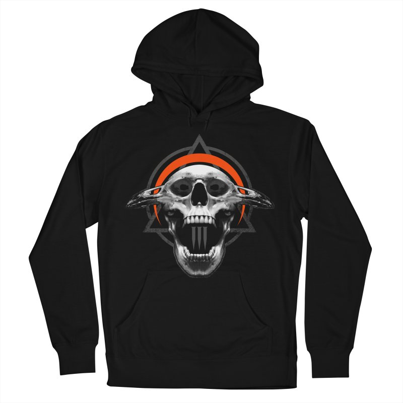 Corvus TriSkull Men's Pullover Hoody by The Dark Art of Chad Savage