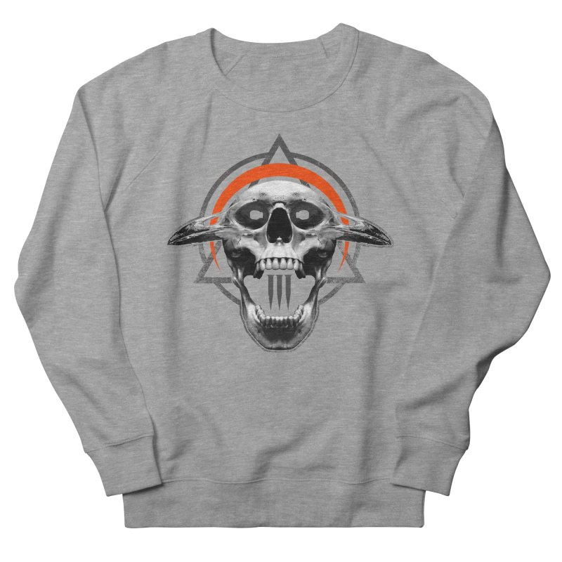 Corvus TriSkull Women's French Terry Sweatshirt by The Dark Art of Chad Savage