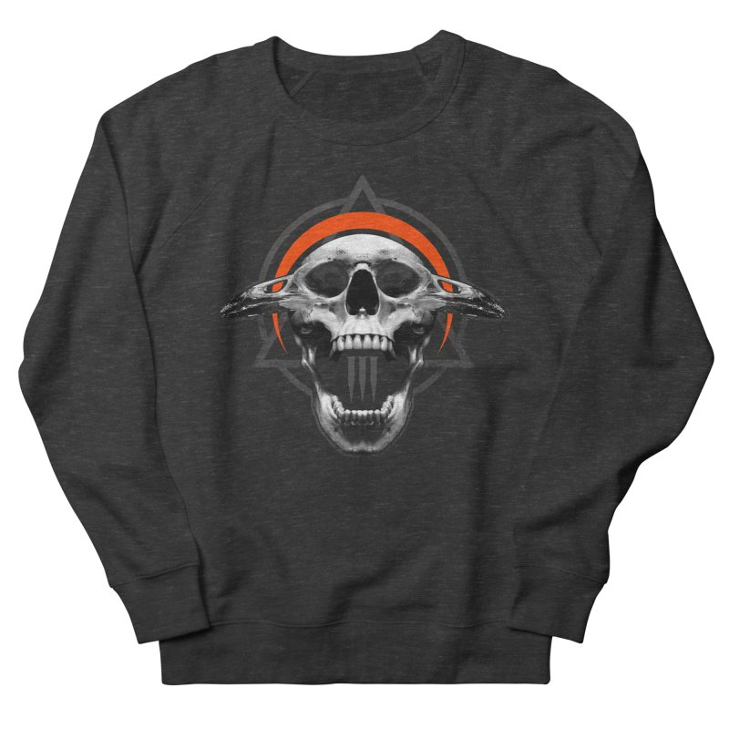 Corvus TriSkull Men's French Terry Sweatshirt by The Dark Art of Chad Savage