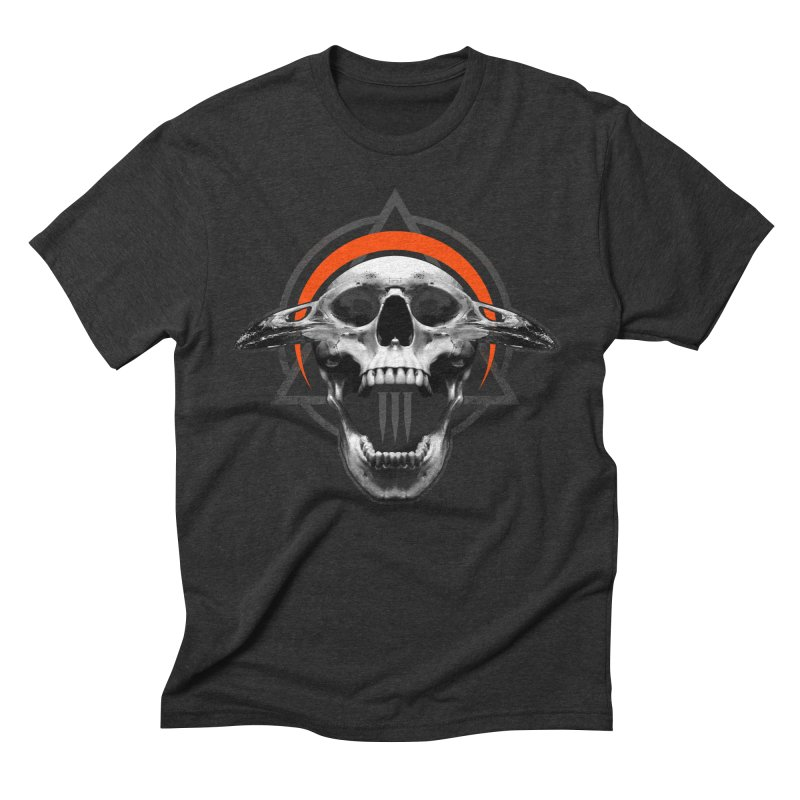Corvus TriSkull Men's Triblend T-Shirt by The Dark Art of Chad Savage
