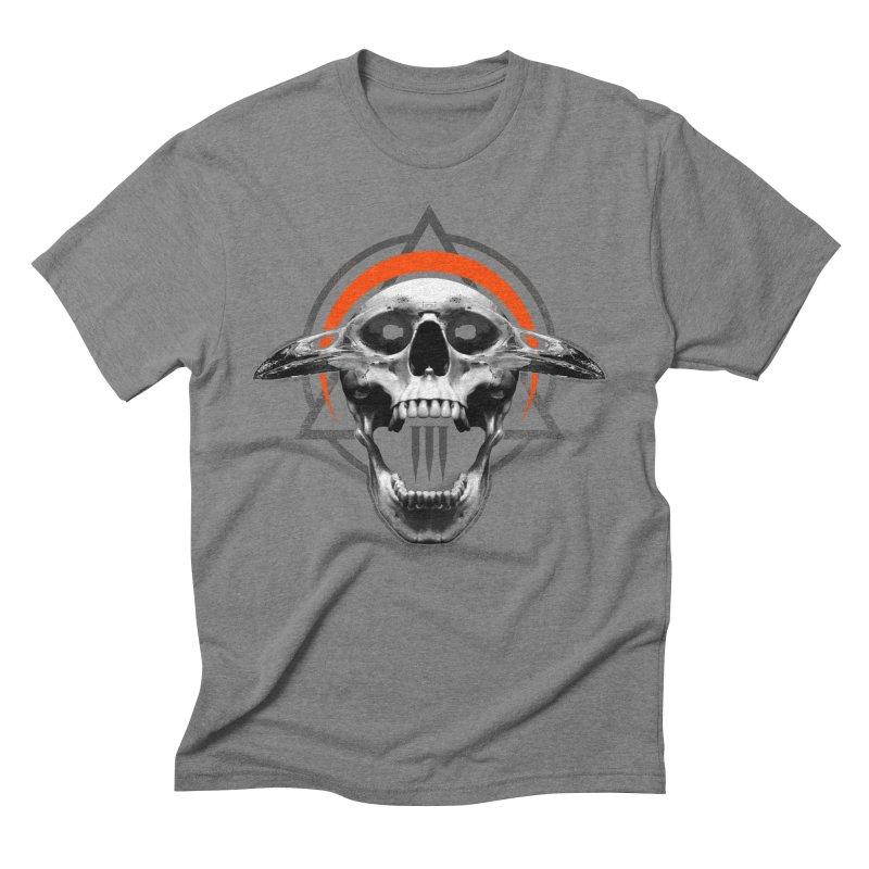 Corvus TriSkull Men's Triblend T-Shirt by The Dark Art of Chad Savage