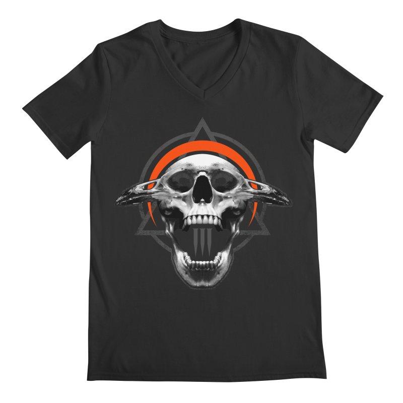 Corvus TriSkull Men's V-Neck by The Dark Art of Chad Savage