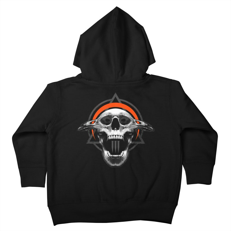 Corvus TriSkull Kids Toddler Zip-Up Hoody by The Dark Art of Chad Savage