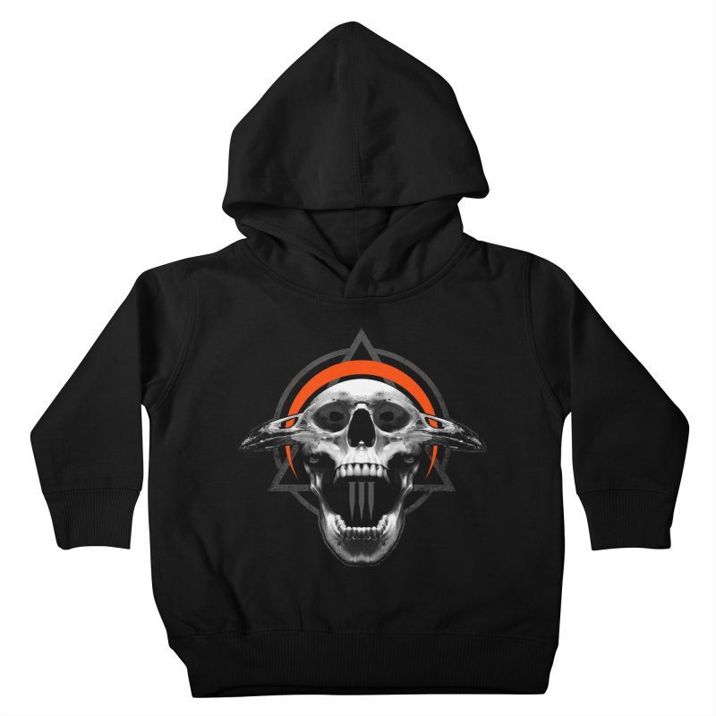 Corvus TriSkull Kids Toddler Pullover Hoody by The Dark Art of Chad Savage