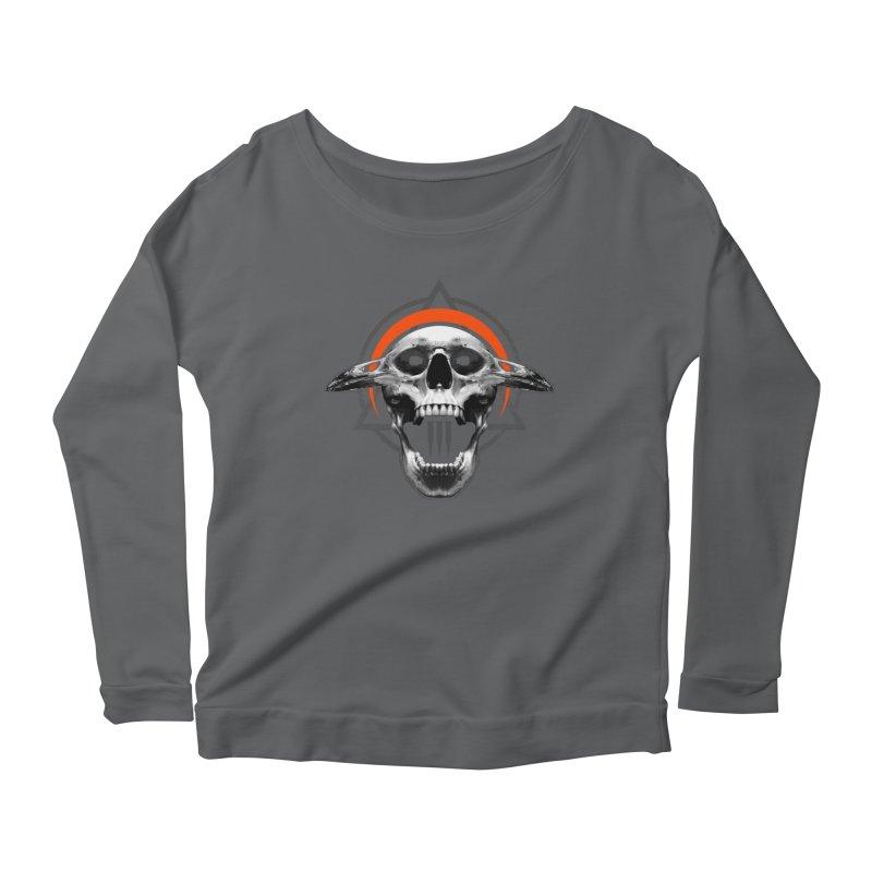 Corvus TriSkull Women's Scoop Neck Longsleeve T-Shirt by The Dark Art of Chad Savage