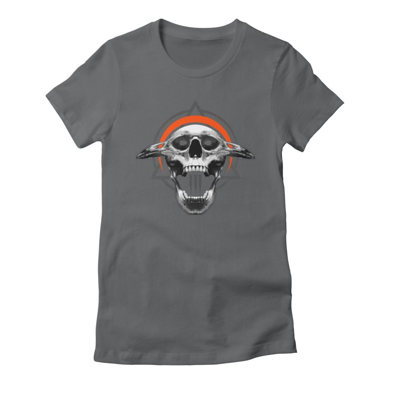 Corvus TriSkull Women's Fitted T-Shirt by The Dark Art of Chad Savage