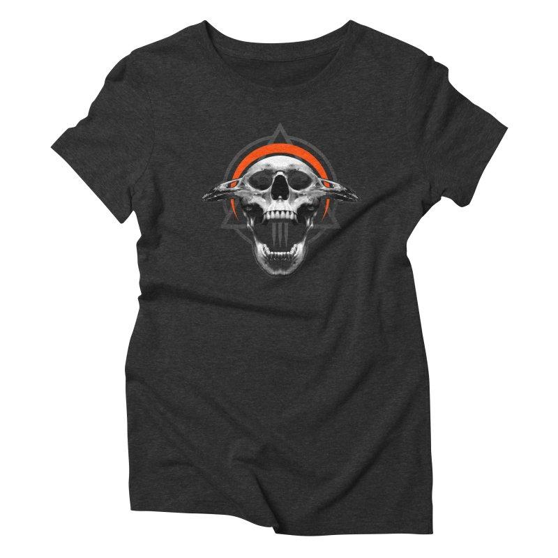 Corvus TriSkull Women's Triblend T-shirt by The Dark Art of Chad Savage