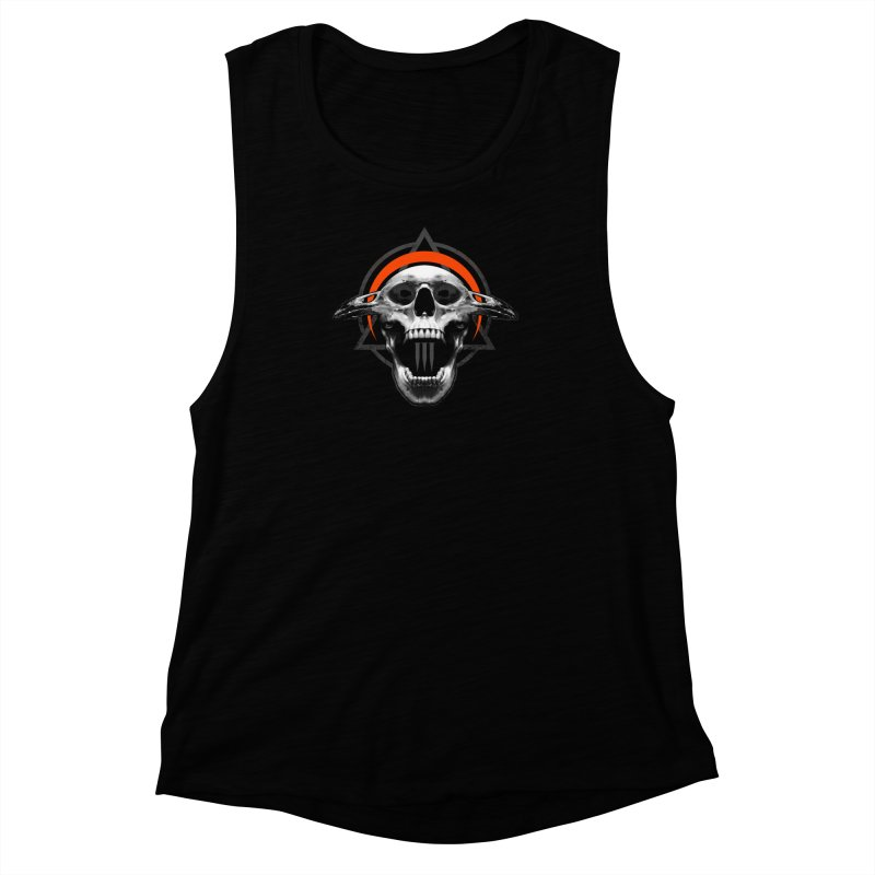 Corvus TriSkull Women's Muscle Tank by The Dark Art of Chad Savage