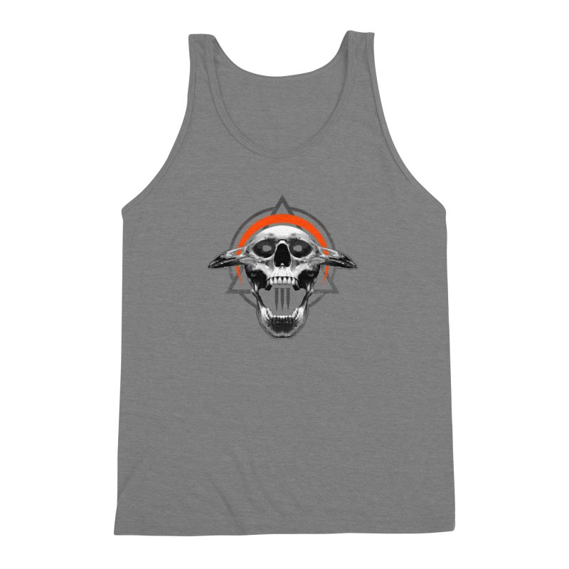 Corvus TriSkull Men's Triblend Tank by The Dark Art of Chad Savage