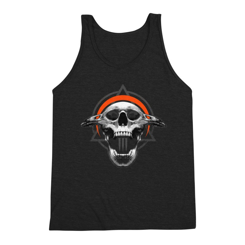 Corvus TriSkull Men's Triblend Tank by The Dark Art of Chad Savage