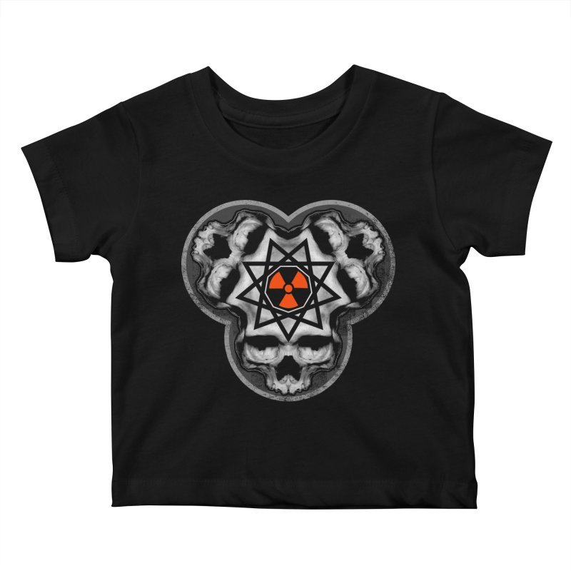 Enneagram Skull Kids Baby T-Shirt by The Dark Art of Chad Savage