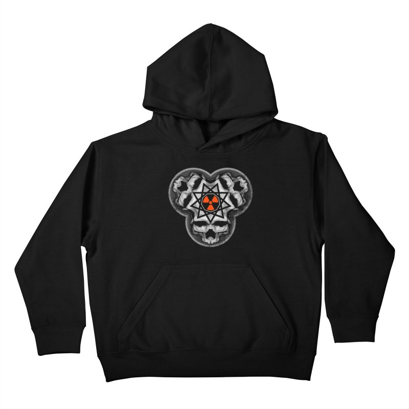 Enneagram Skull Kids Pullover Hoody by The Dark Art of Chad Savage