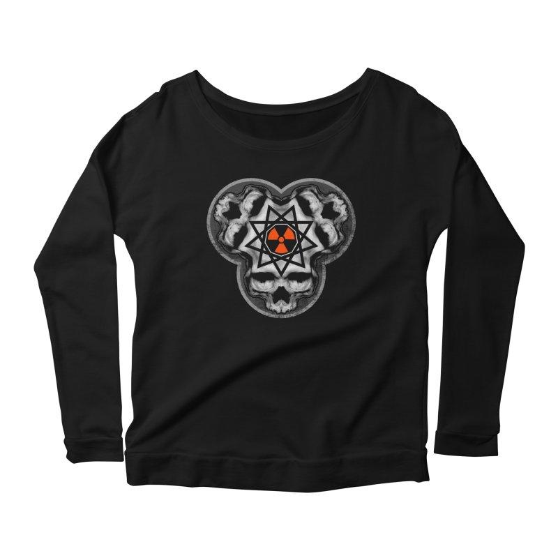 Enneagram Skull Women's Scoop Neck Longsleeve T-Shirt by The Dark Art of Chad Savage