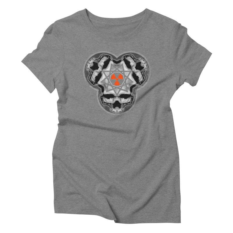 Enneagram Skull Women's Triblend T-shirt by The Dark Art of Chad Savage