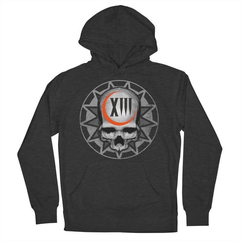Lucky 13 Skull Women's French Terry Pullover Hoody by The Dark Art of Chad Savage