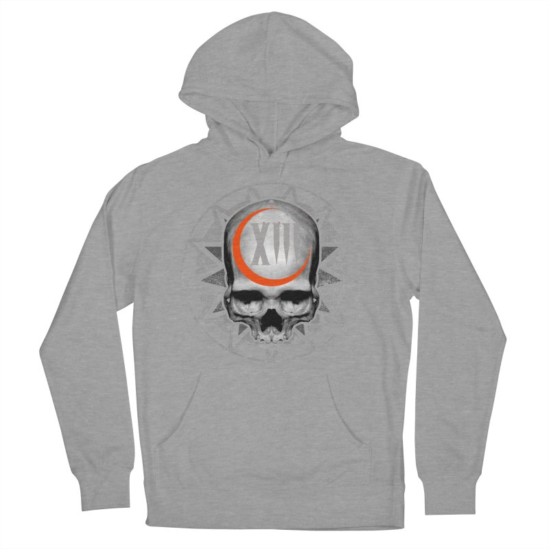Lucky 13 Skull Men's French Terry Pullover Hoody by The Dark Art of Chad Savage