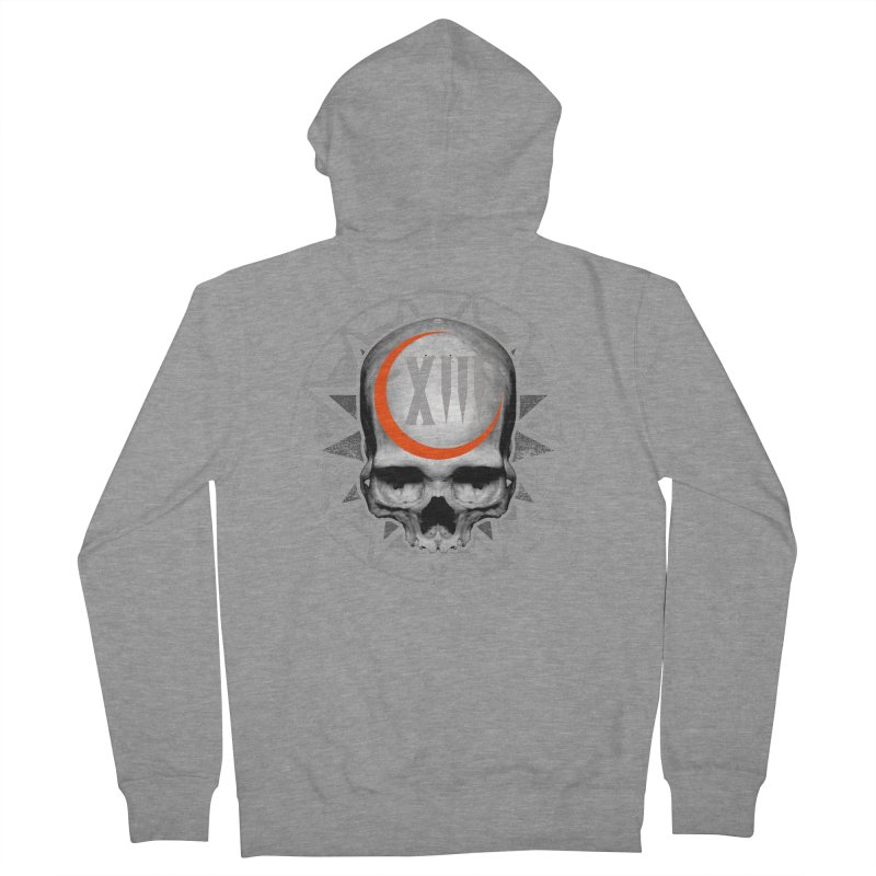 Lucky 13 Skull Men's French Terry Zip-Up Hoody by The Dark Art of Chad Savage
