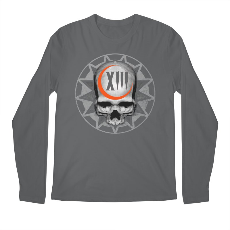 Lucky 13 Skull Men's Longsleeve T-Shirt by The Dark Art of Chad Savage