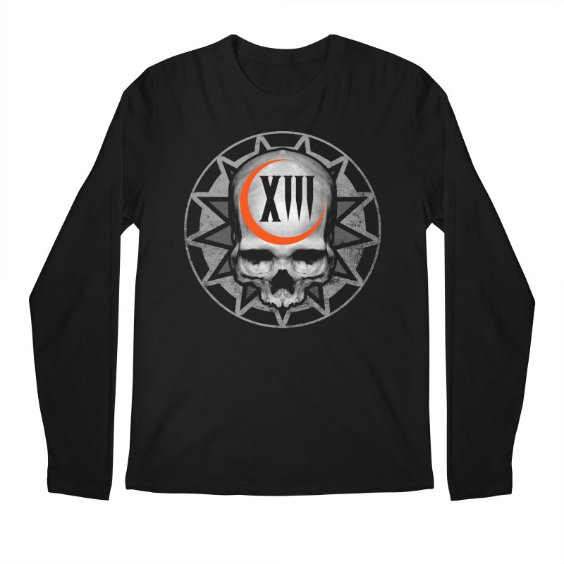 Lucky 13 Skull Men's Regular Longsleeve T-Shirt by The Dark Art of Chad Savage
