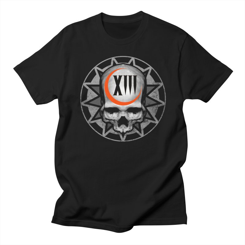 Lucky 13 Skull Women's Regular Unisex T-Shirt by The Dark Art of Chad Savage