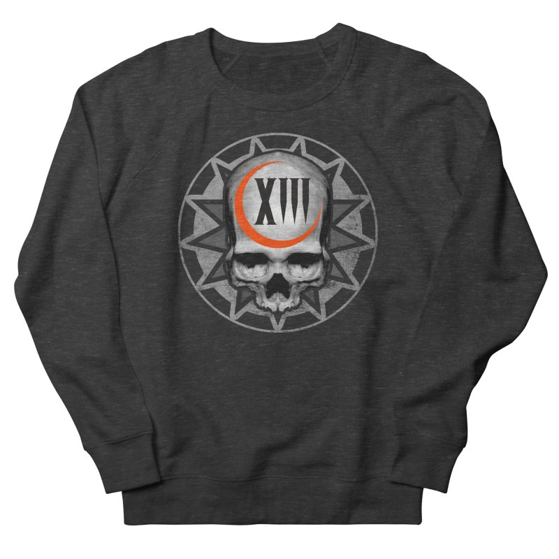 Lucky 13 Skull Men's French Terry Sweatshirt by The Dark Art of Chad Savage