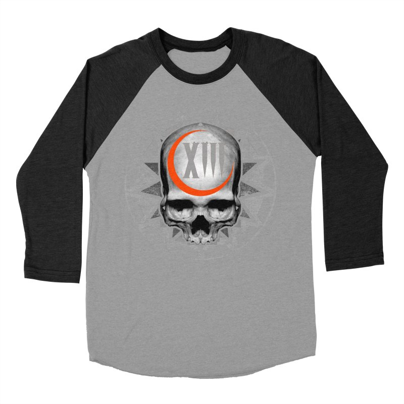 Lucky 13 Skull Women's Baseball Triblend T-Shirt by The Dark Art of Chad Savage