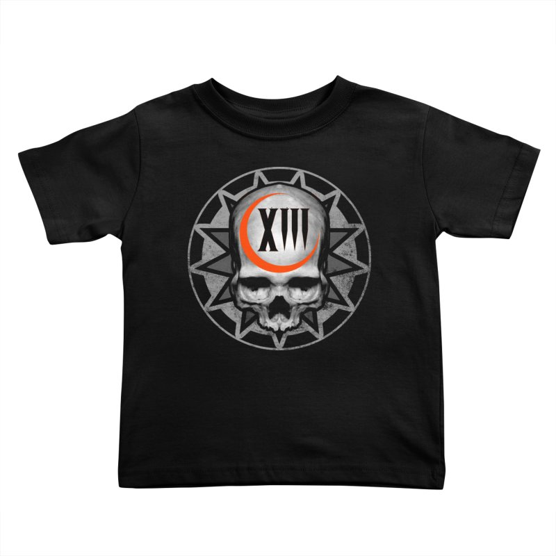 Lucky 13 Skull Kids Toddler T-Shirt by The Dark Art of Chad Savage
