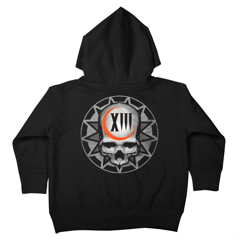 Lucky 13 Skull Kids Toddler Zip-Up Hoody by The Dark Art of Chad Savage
