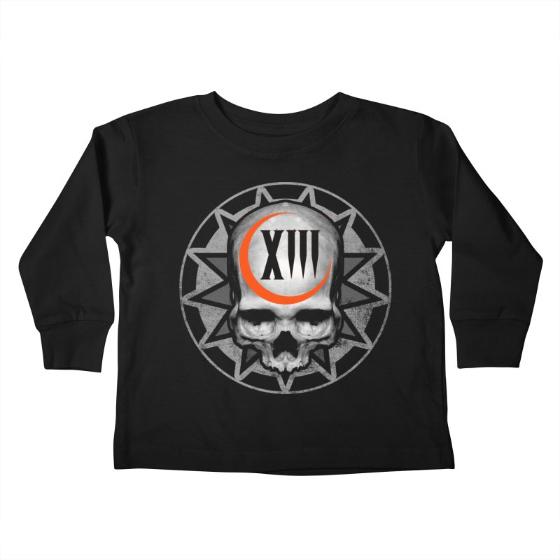 Lucky 13 Skull Kids Toddler Longsleeve T-Shirt by The Dark Art of Chad Savage