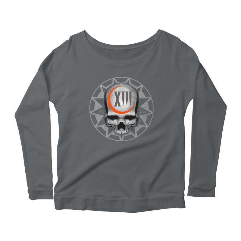 Lucky 13 Skull Women's Longsleeve T-Shirt by The Dark Art of Chad Savage