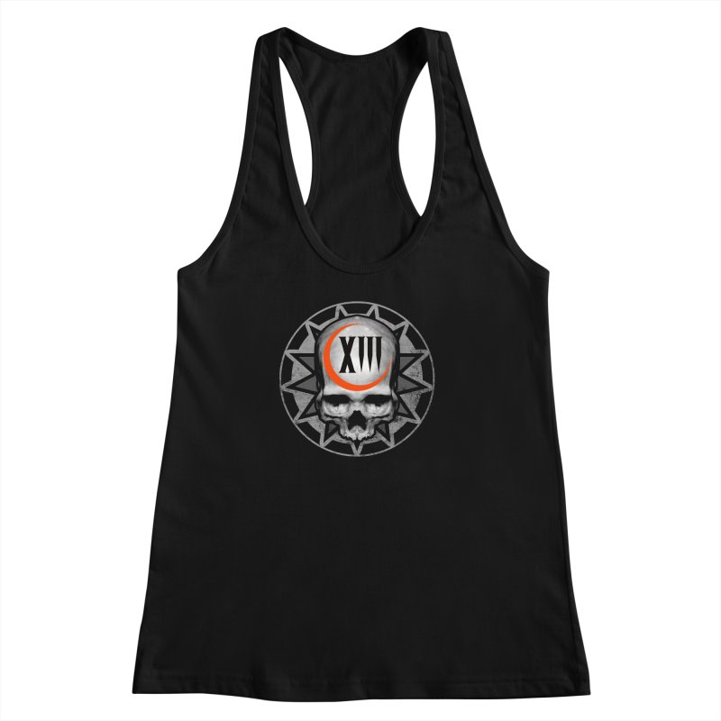 Lucky 13 Skull Women's Racerback Tank by The Dark Art of Chad Savage