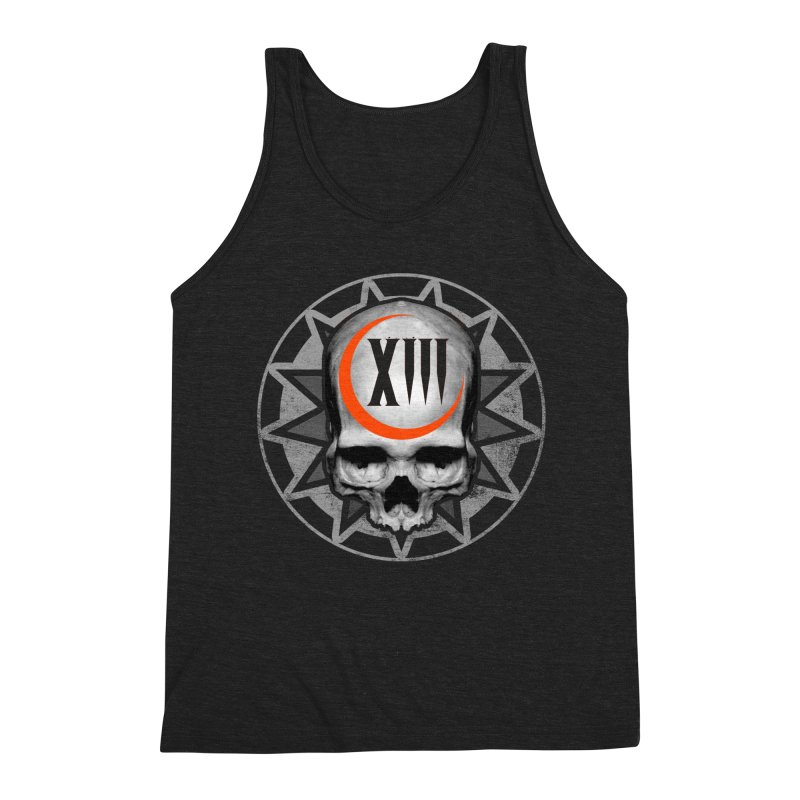 Lucky 13 Skull Men's Triblend Tank by The Dark Art of Chad Savage