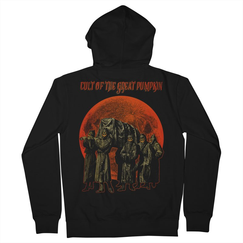 Cult of the Great Pumpkin: Pallbearers Men's French Terry Zip-Up Hoody by The Dark Art of Chad Savage