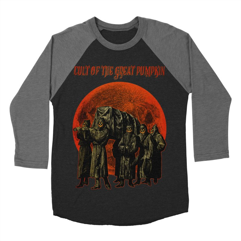 Cult of the Great Pumpkin: Pallbearers Women's Baseball Triblend Longsleeve T-Shirt by The Dark Art of Chad Savage