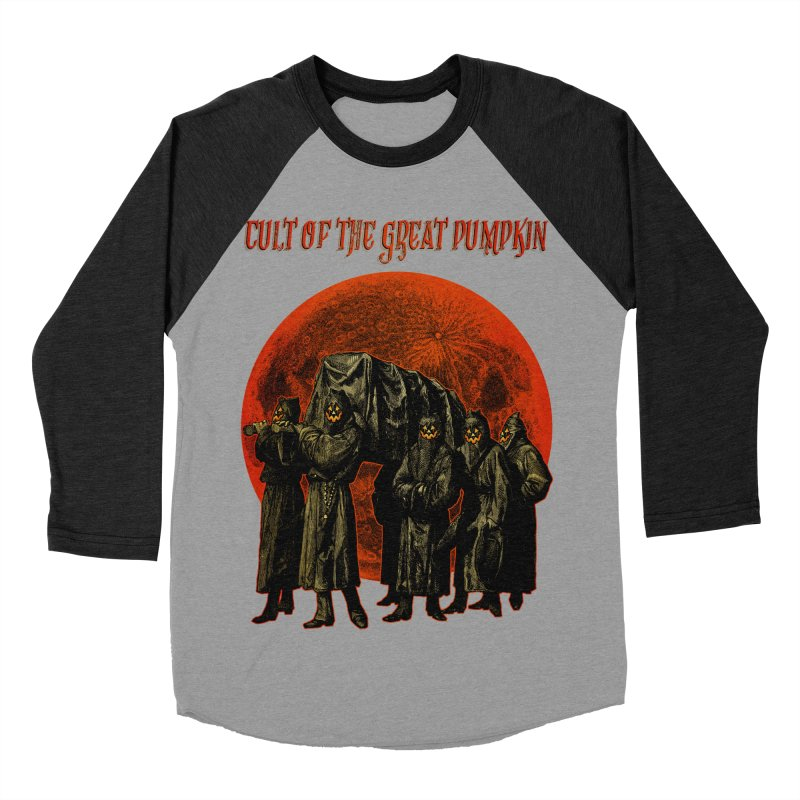 Cult of the Great Pumpkin: Pallbearers Men's Baseball Triblend T-Shirt by The Dark Art of Chad Savage