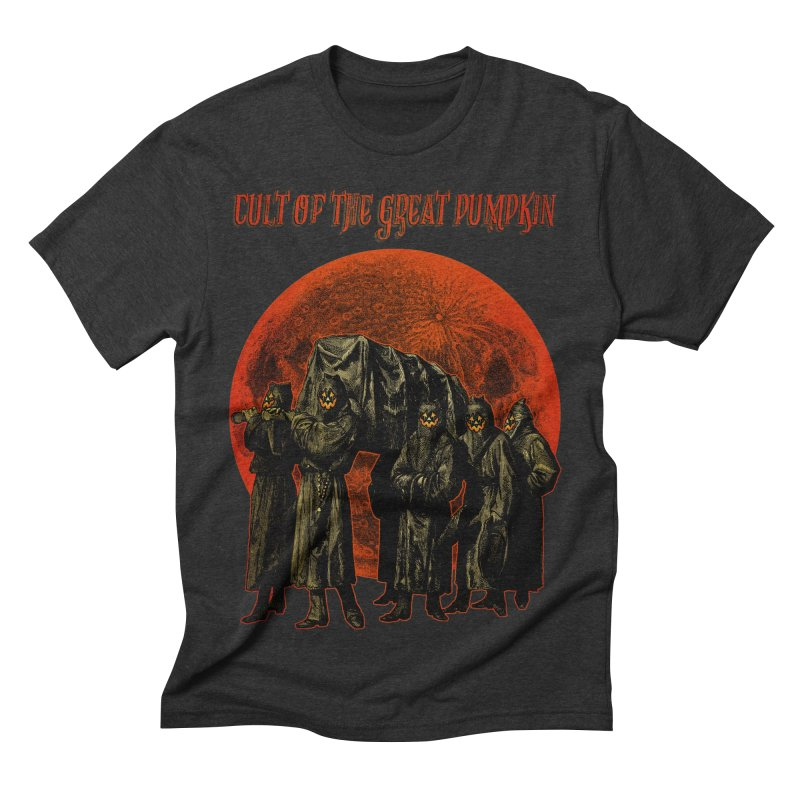 Cult of the Great Pumpkin: Pallbearers Men's Triblend T-shirt by The Dark Art of Chad Savage