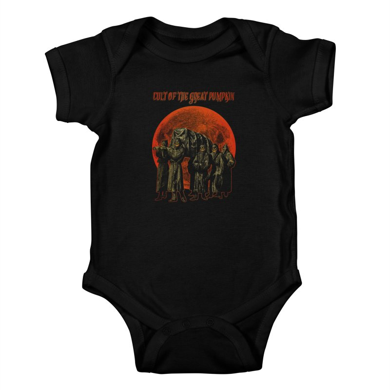 Cult of the Great Pumpkin: Pallbearers Kids Baby Bodysuit by The Dark Art of Chad Savage