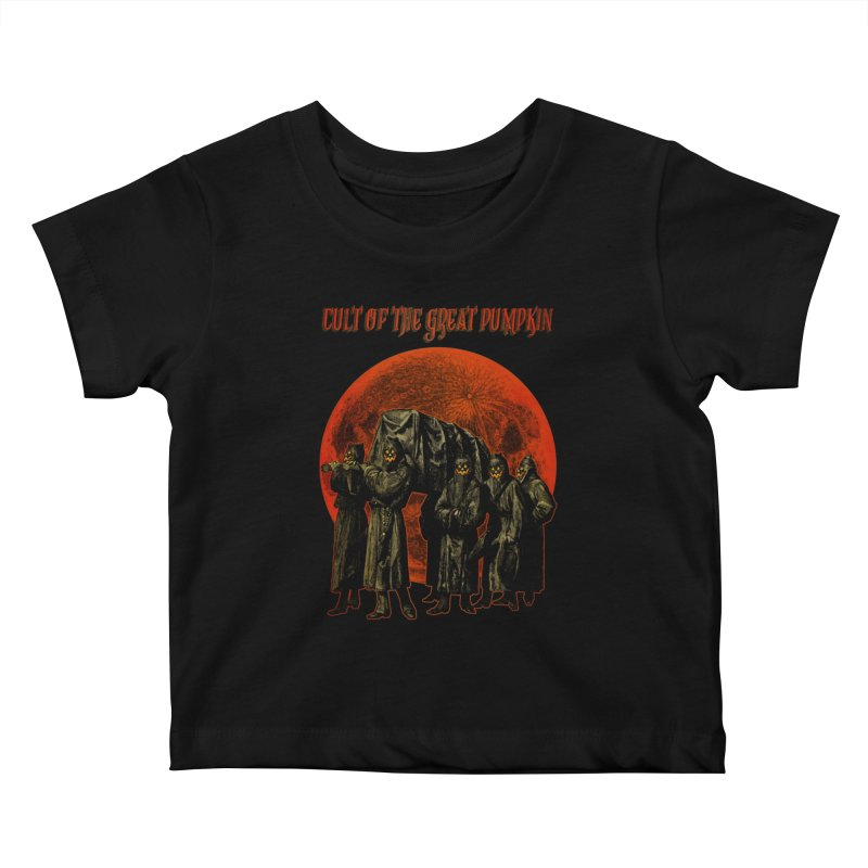 Cult of the Great Pumpkin: Pallbearers Kids Baby T-Shirt by The Dark Art of Chad Savage