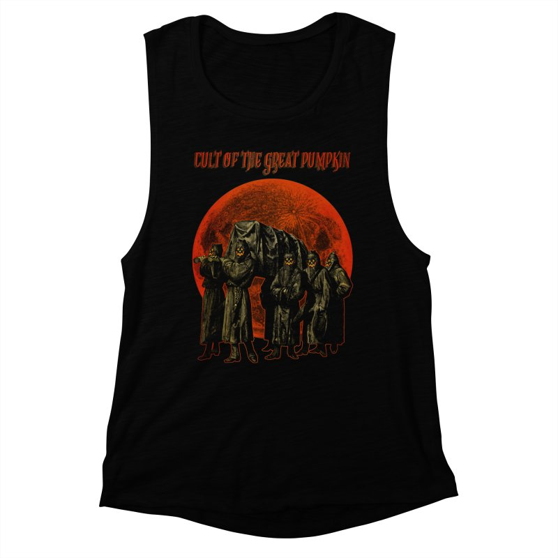 Cult of the Great Pumpkin: Pallbearers Women's Muscle Tank by The Dark Art of Chad Savage