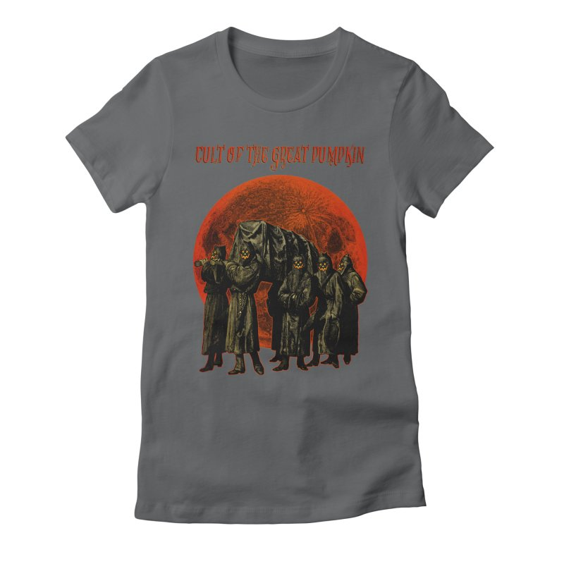 Cult of the Great Pumpkin: Pallbearers Women's Fitted T-Shirt by The Dark Art of Chad Savage