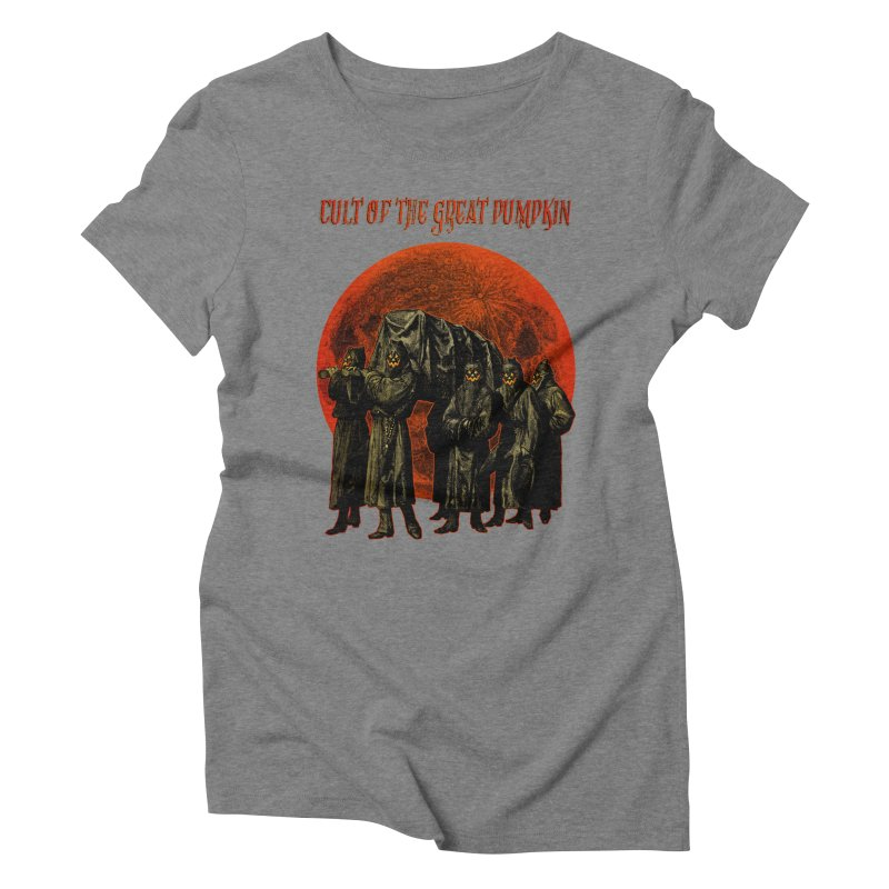 Cult of the Great Pumpkin: Pallbearers Women's Triblend T-Shirt by The Dark Art of Chad Savage